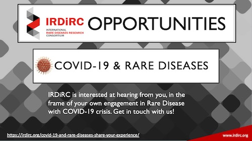 COVID-19 and Rare Diseases: Share your experience