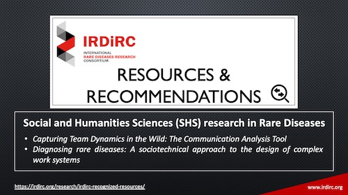 """New section on Social and Humanities Sciences on the """"IRDiRC Resources and Recommendations"""" webpage"""