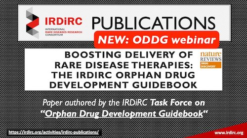 IRDIRC Orphan Drug Development Guidebook (ODDG) webinar