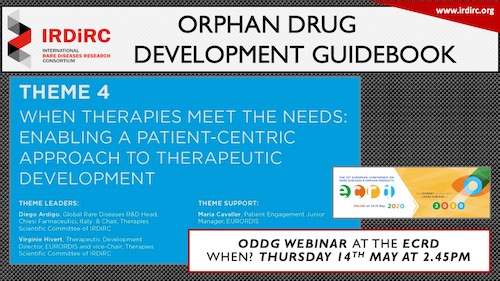 IRDIRC Orphan Drug Development Guidebook (ODDG) webinar at the ECRD