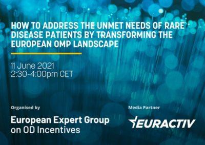 Orphan Drug Expert Group Webinar: Addressing the unmet needs of rare disease patients