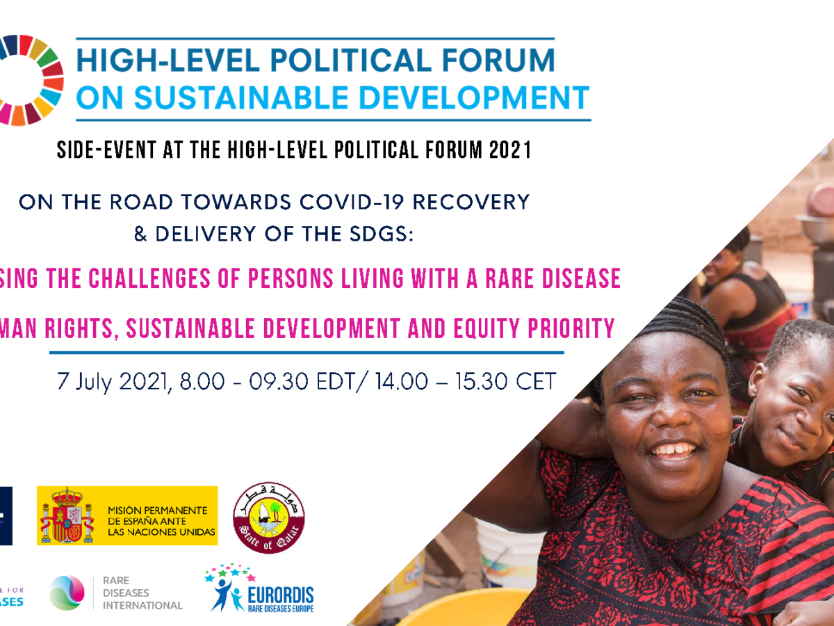 U.N. Political Forum 2021 High-Level Side Event: Addressing the challenges of persons living with a rare disease